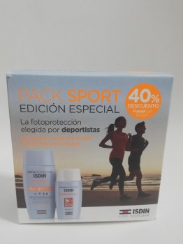 Pack Sport. Fusion Gel Sport  50 + y Fusion Water